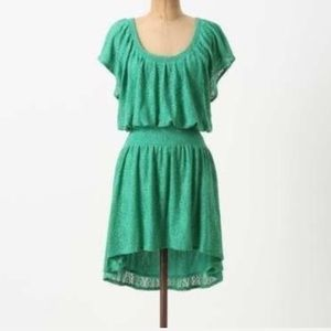 Anthropologie Leifnotes Lace High-Low Dress Small
